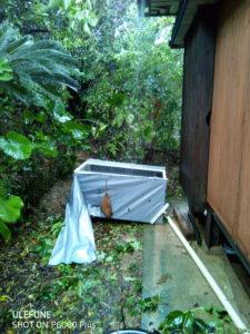 奄美ゲストハウス。台風
